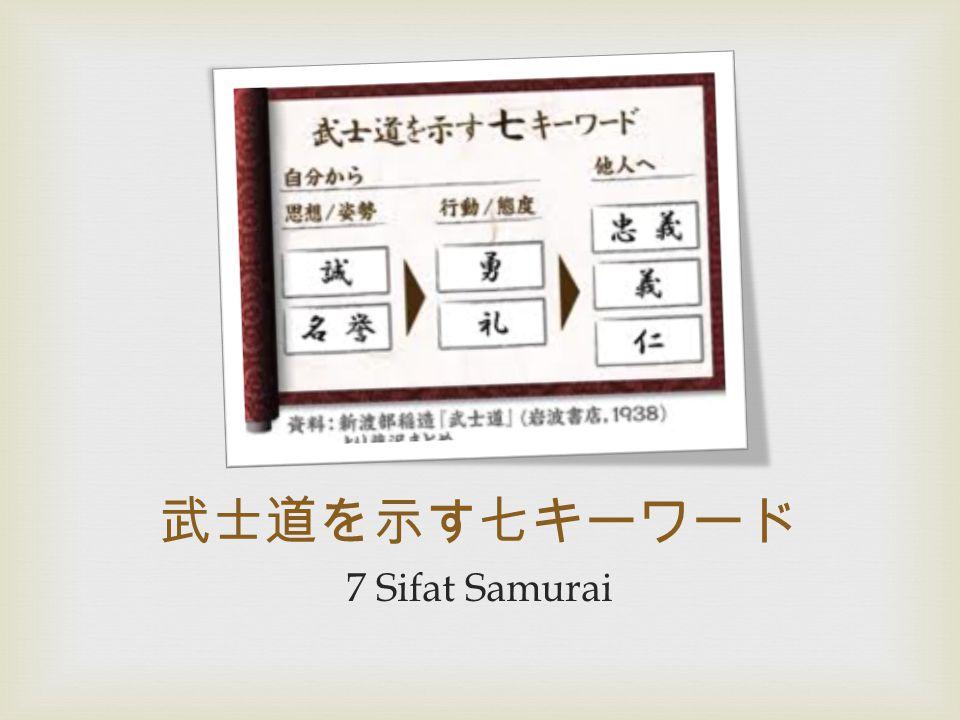 武士道を示す七キーワード 7 Sifat Samurai