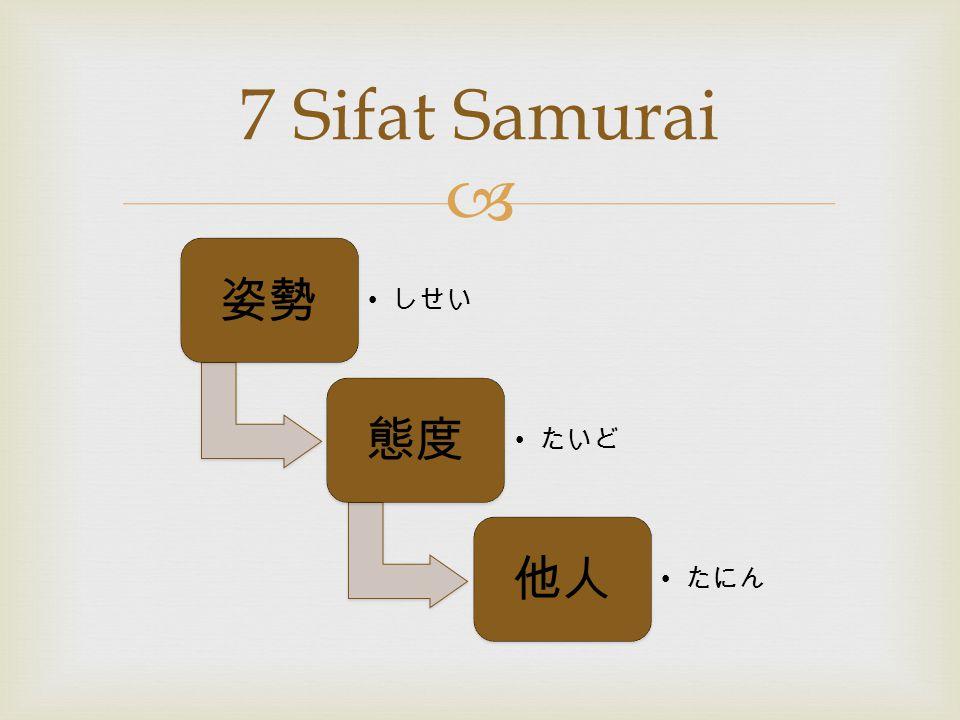 7 Sifat Samurai 姿勢 しせい 態度 たいど 他人 たにん