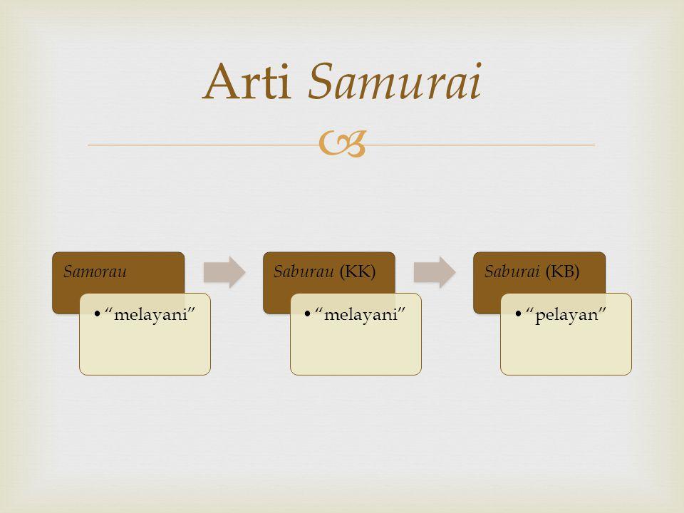 Arti Samurai Samorau melayani Saburau (KK) Saburai (KB) pelayan