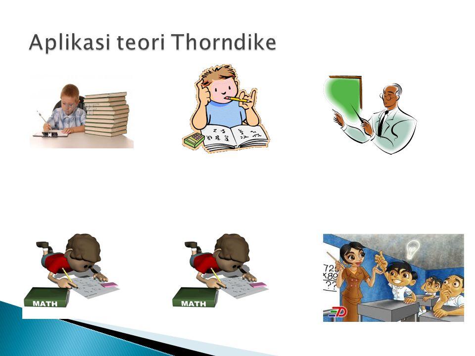 Aplikasi teori Thorndike