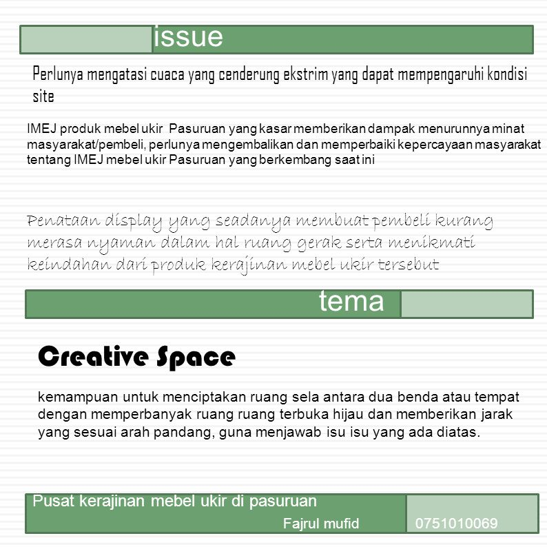 issue tema Creative Space