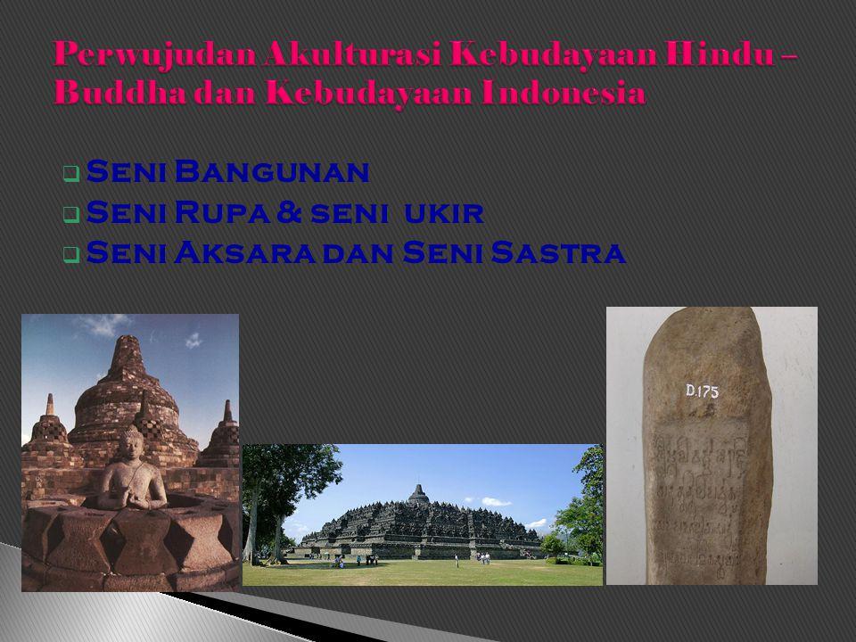 Perwujudan Akulturasi Kebudayaan Hindu – Buddha dan Kebudayaan Indonesia