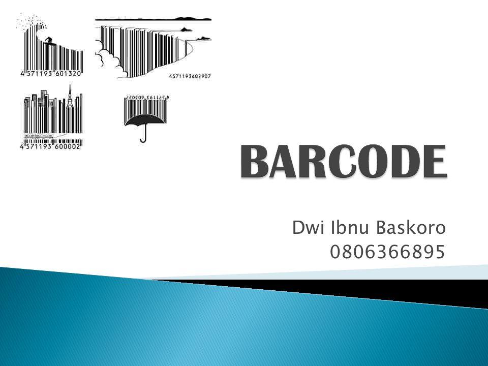 BARCODE Dwi Ibnu Baskoro 0806366895