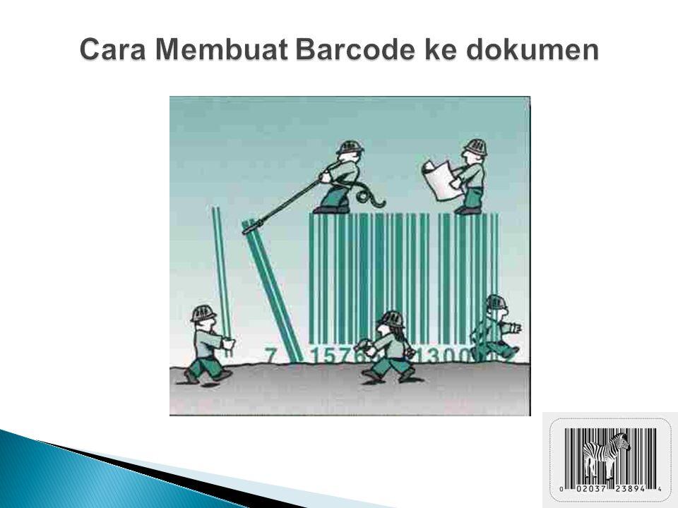 Cara Membuat Barcode ke dokumen