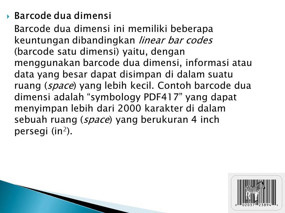 Barcode dua dimensi