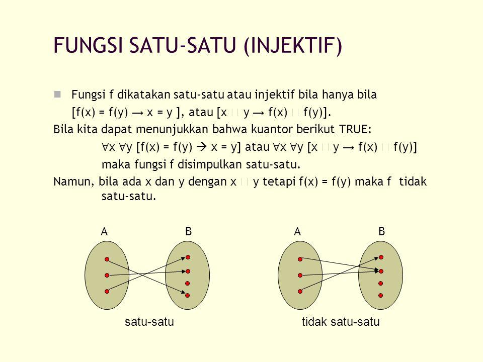 FUNGSI SATU-SATU (INJEKTIF)