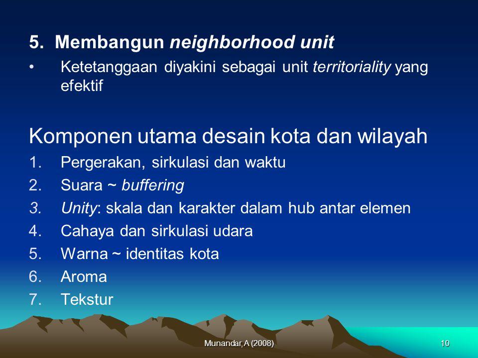 Komponen utama desain kota dan wilayah