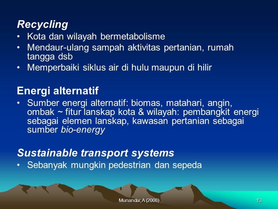 Sustainable transport systems