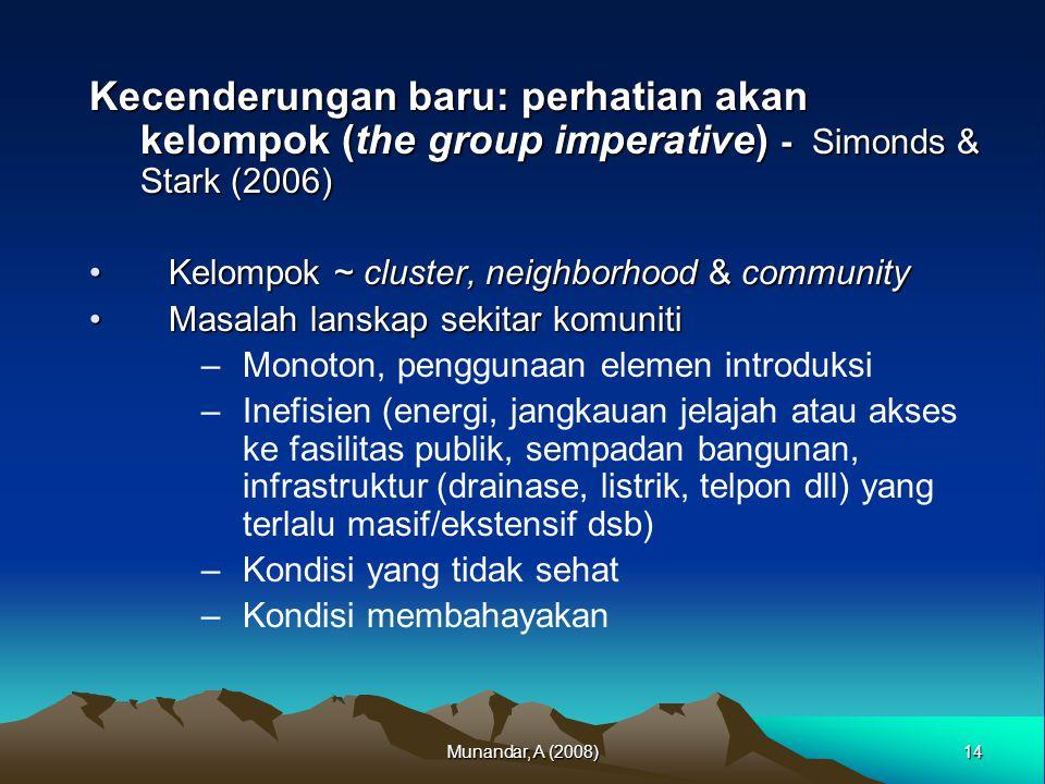 Kecenderungan baru: perhatian akan kelompok (the group imperative) - Simonds & Stark (2006)