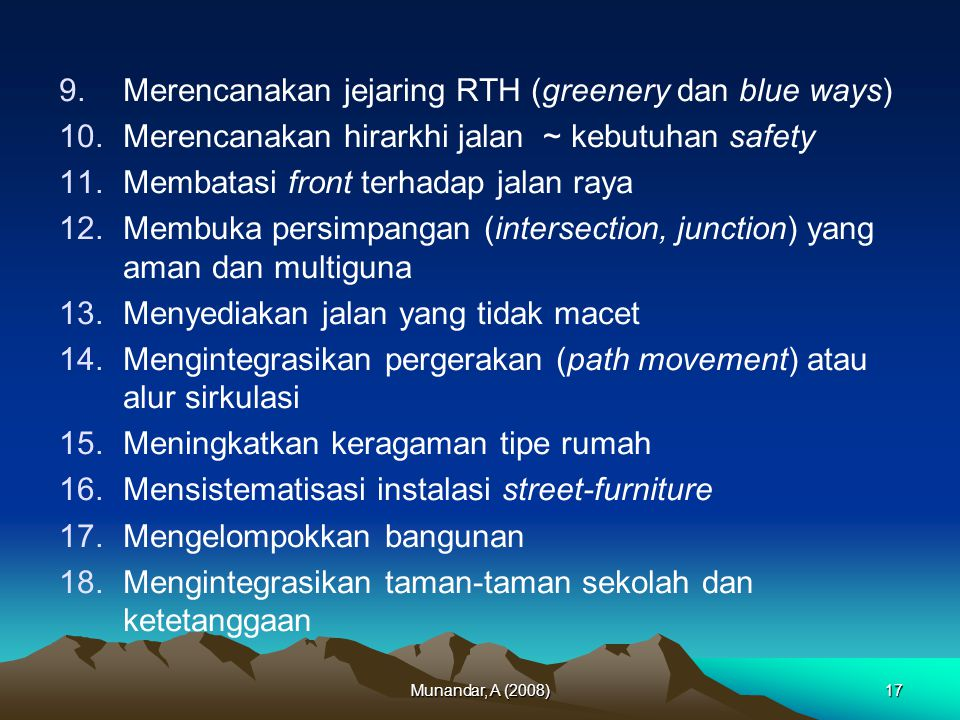 Merencanakan jejaring RTH (greenery dan blue ways)