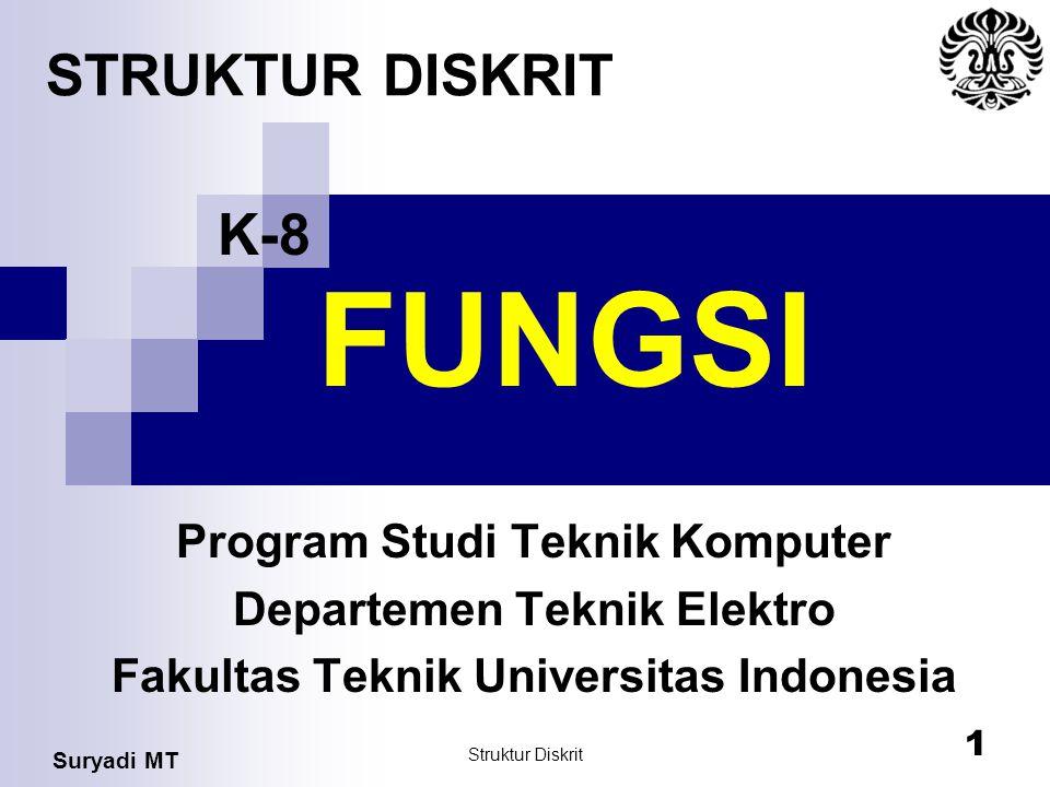 FUNGSI STRUKTUR DISKRIT K-8 Program Studi Teknik Komputer