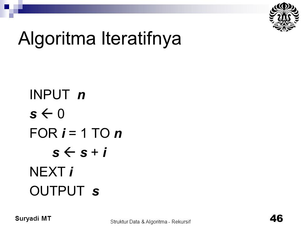 Algoritma Iteratifnya