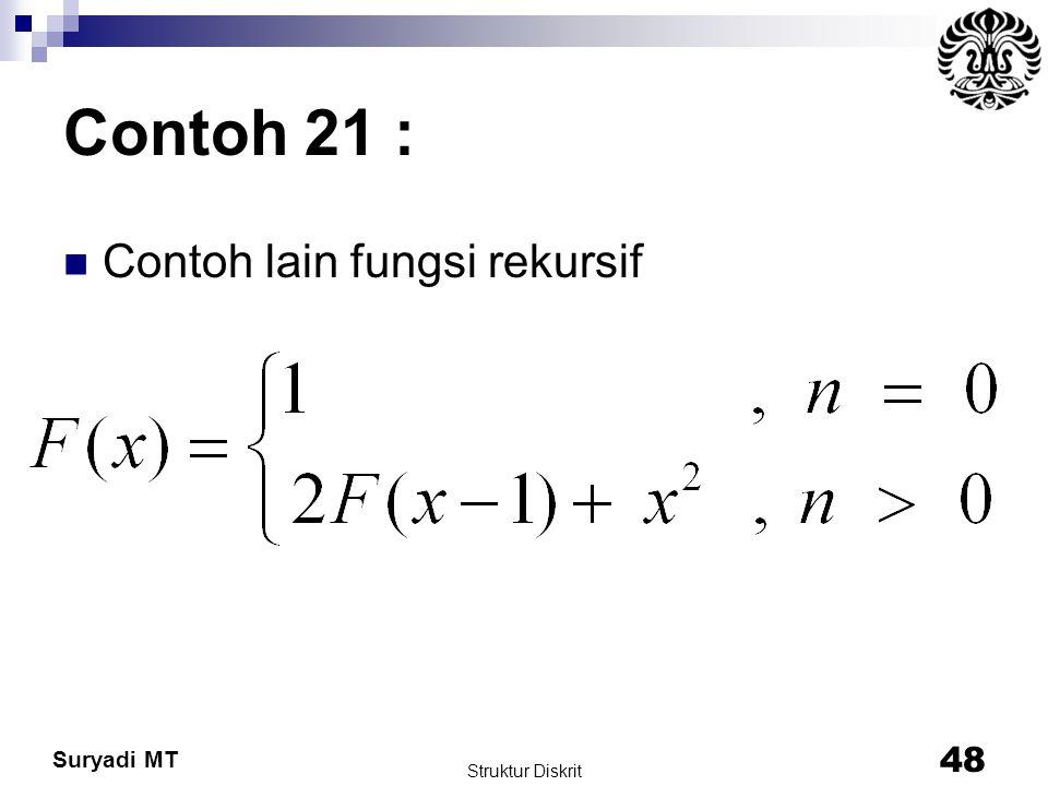 Contoh 21 : Contoh lain fungsi rekursif Struktur Diskrit