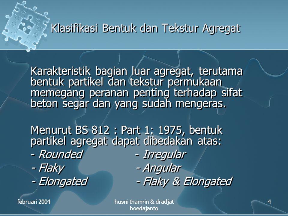 Klasifikasi Bentuk dan Tekstur Agregat