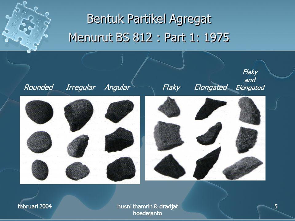 Bentuk Partikel Agregat Menurut BS 812 : Part 1: 1975