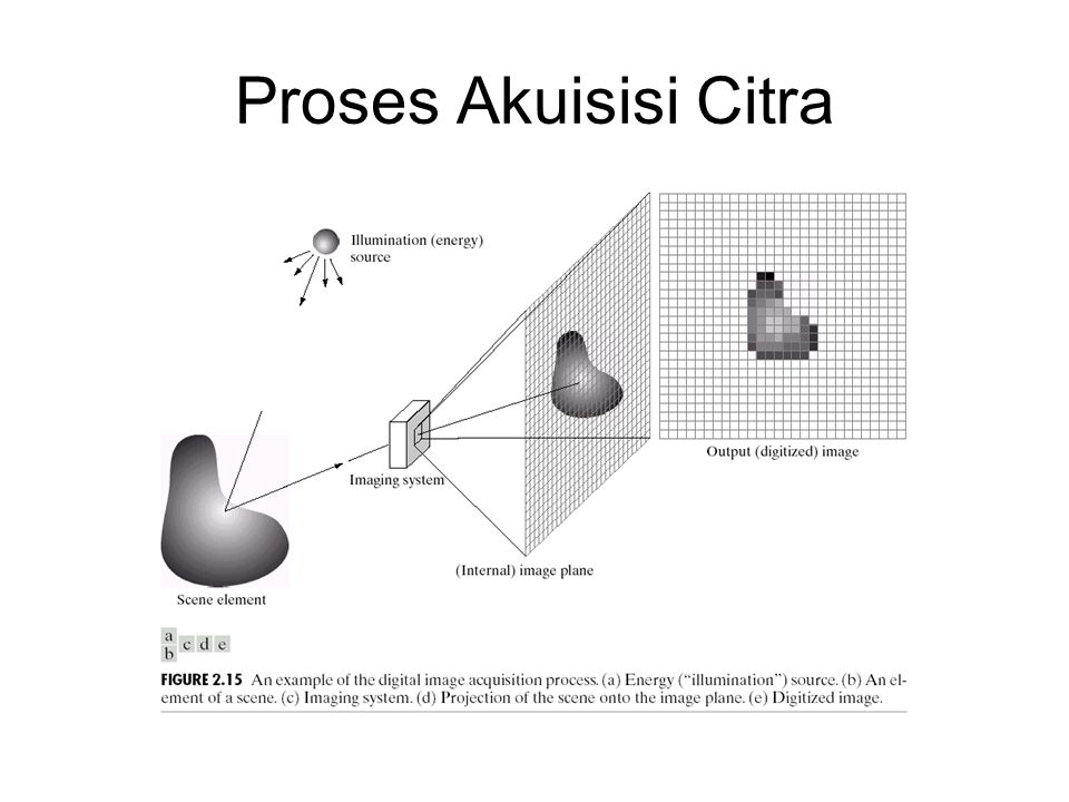Proses Akuisisi Citra Sumber: Gonzales, Rafael C and Woods, Richard E, Digital Imaging Processing, Addison-Wesley Publishing Company, 1993.