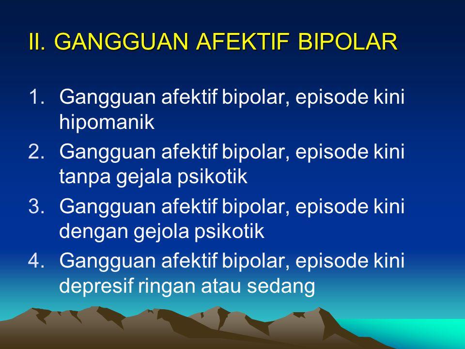 II. GANGGUAN AFEKTIF BIPOLAR
