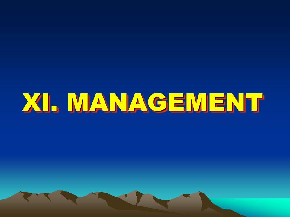 XI. MANAGEMENT