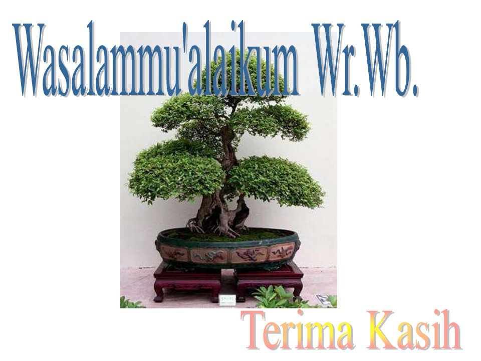 Wasalammu alaikum Wr.Wb.