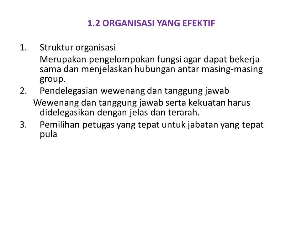 1.2 ORGANISASI YANG EFEKTIF