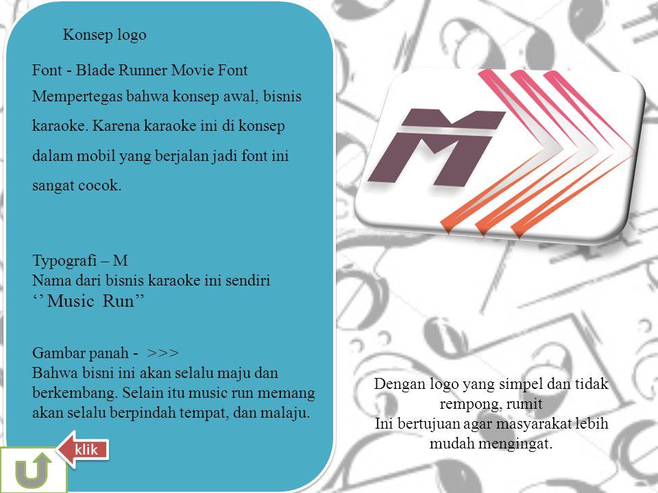 '' Music Run'' Konsep logo Font - Blade Runner Movie Font