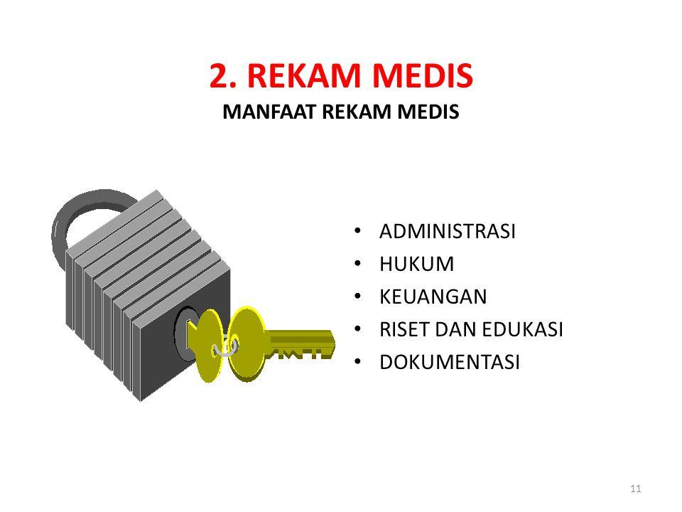 2. REKAM MEDIS MANFAAT REKAM MEDIS