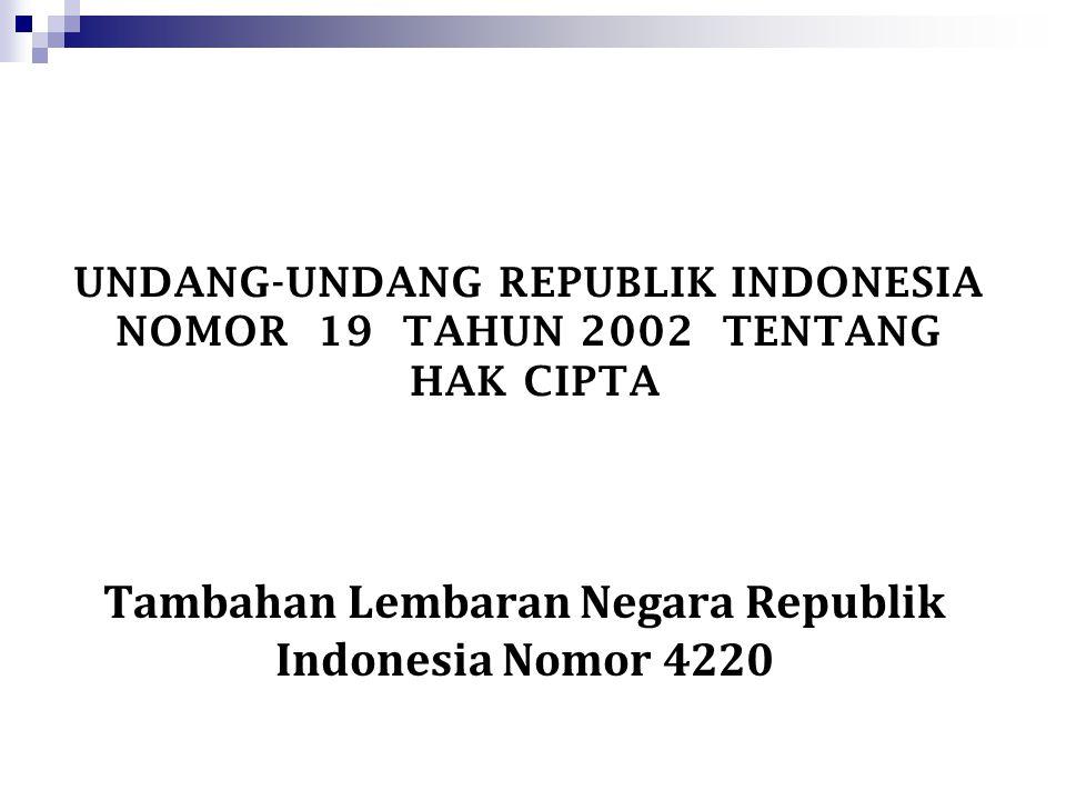 Tambahan Lembaran Negara Republik Indonesia Nomor 4220