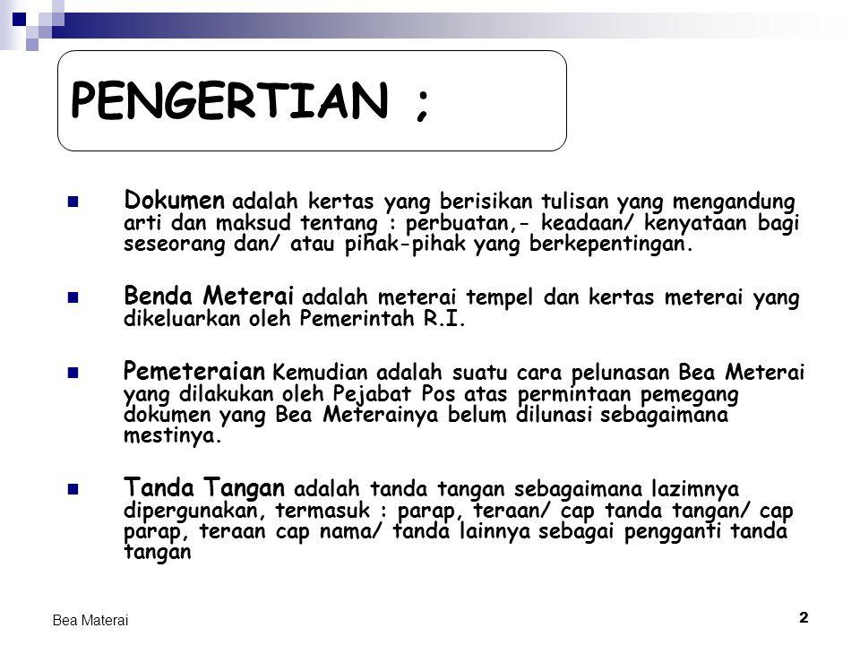 PENGERTIAN ;