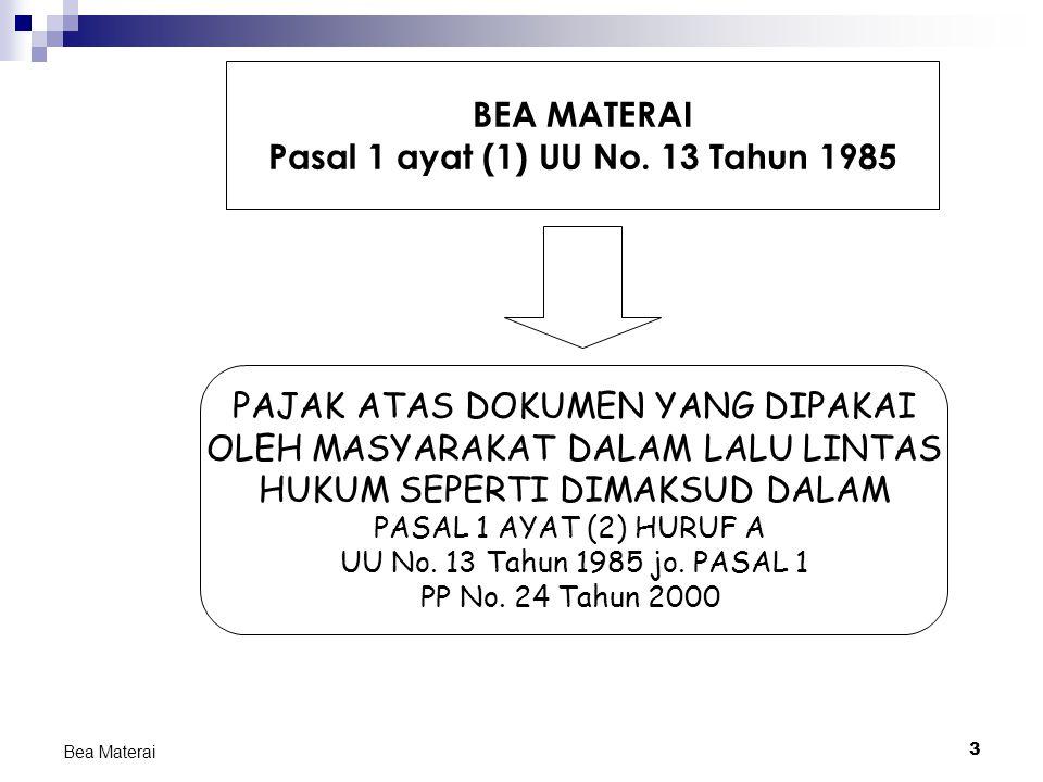 Pasal 1 ayat (1) UU No. 13 Tahun 1985