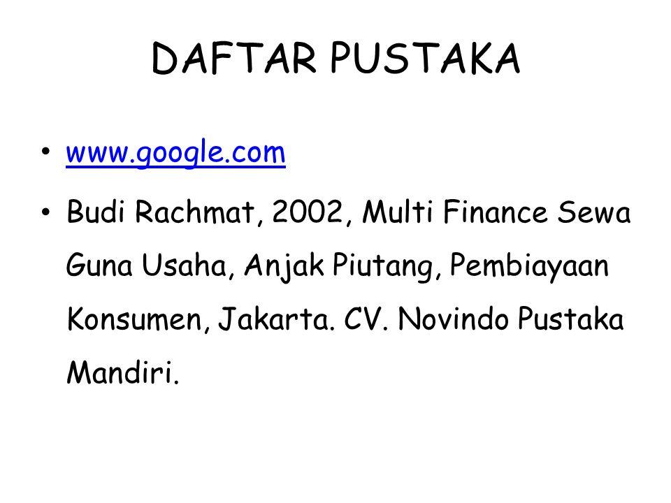DAFTAR PUSTAKA www.google.com