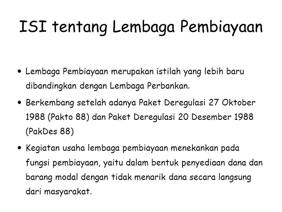 ISI tentang Lembaga Pembiayaan