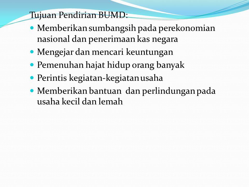 Tujuan Pendirian BUMD: