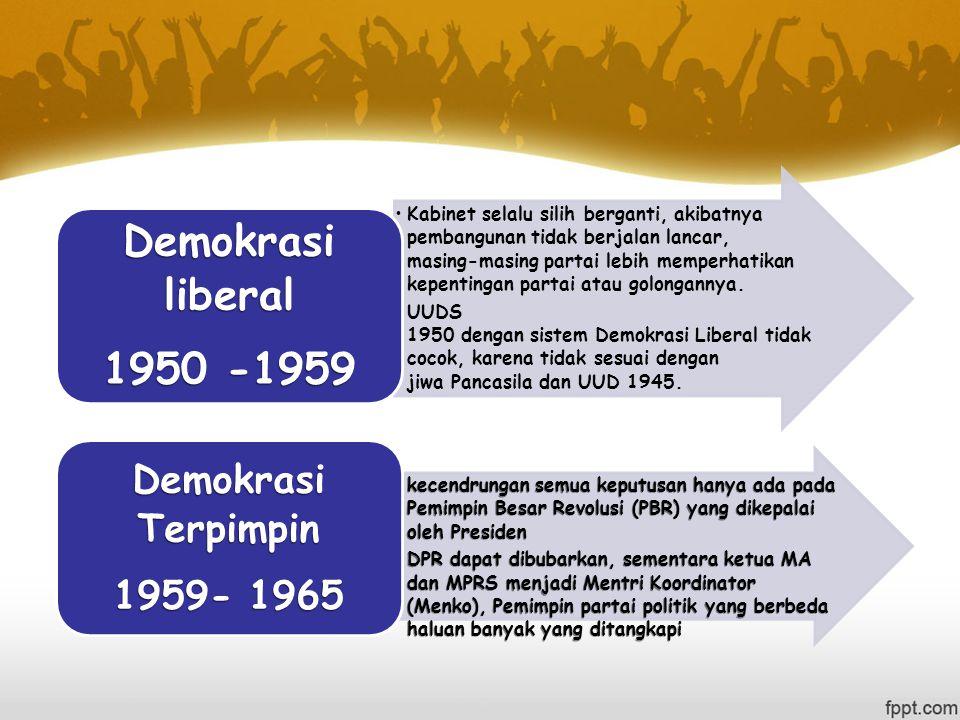 Demokrasi liberal 1950 -1959.