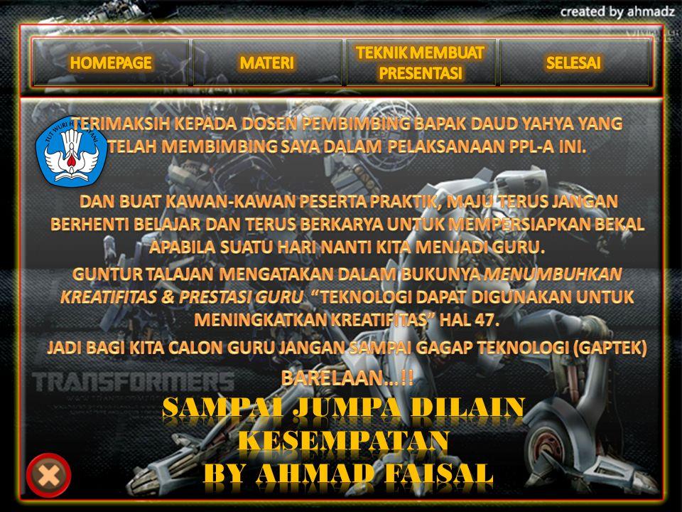 SAMPAI JUMPA DILAIN KESEMPATAN BY AHMAD FAISAL