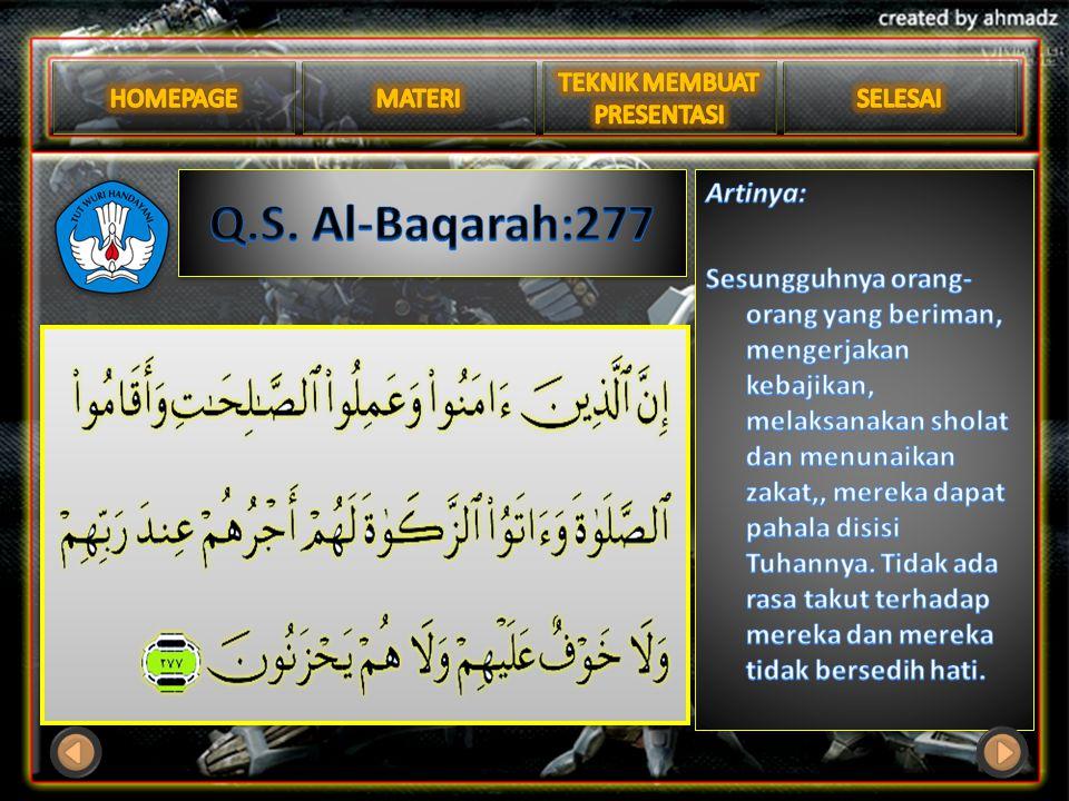 Q.S. Al-Baqarah:277