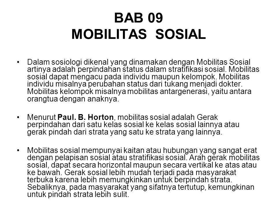 BAB 09 MOBILITAS SOSIAL
