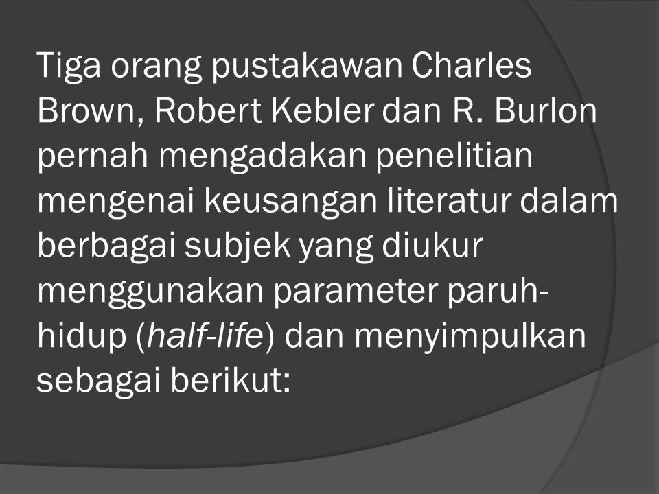 Tiga orang pustakawan Charles Brown, Robert Kebler dan R
