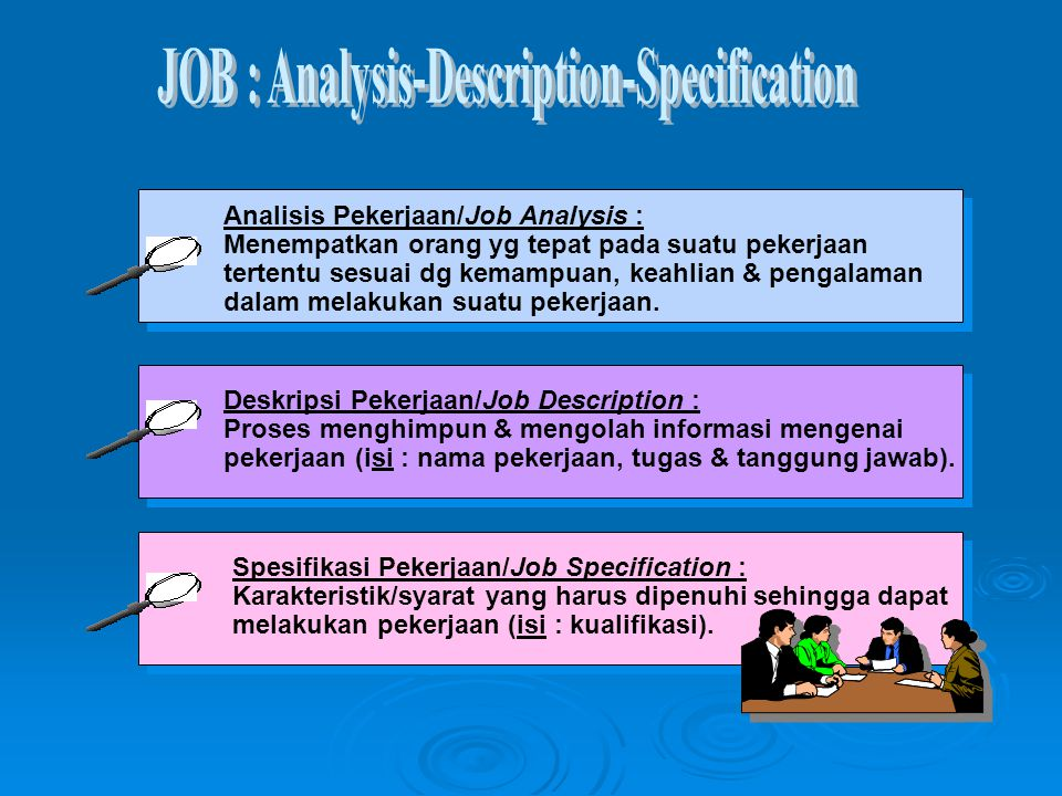 JOB : Analysis-Description-Specification