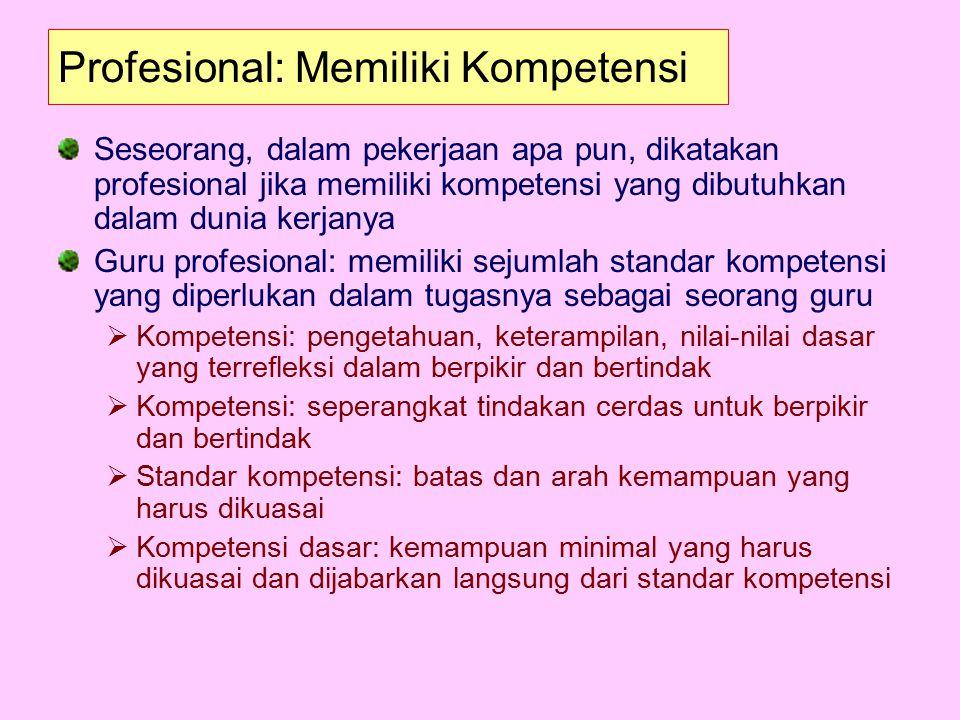 Profesional: Memiliki Kompetensi