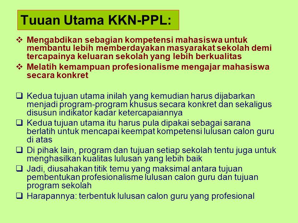 Tuuan Utama KKN-PPL: