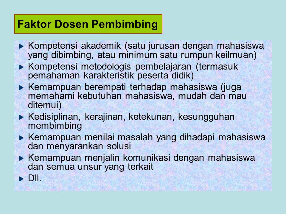 Faktor Dosen Pembimbing