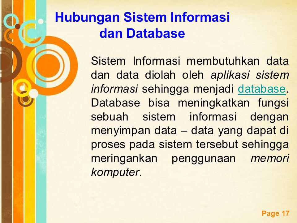 Hubungan Sistem Informasi dan Database