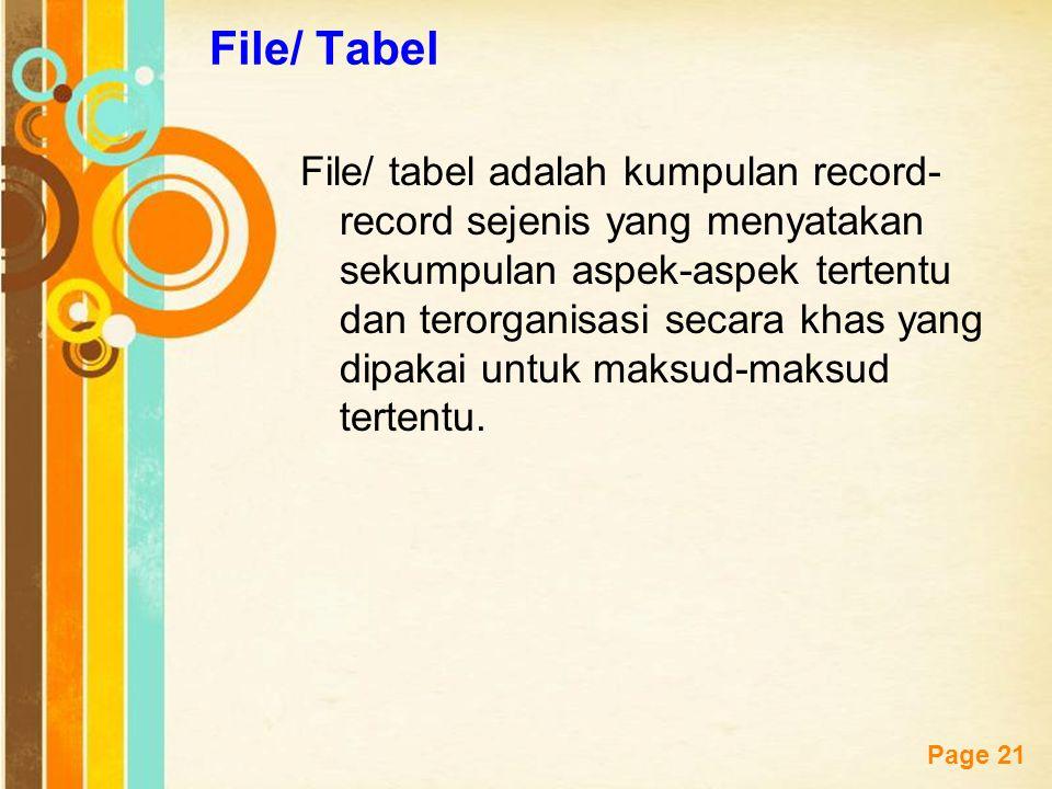 File/ Tabel