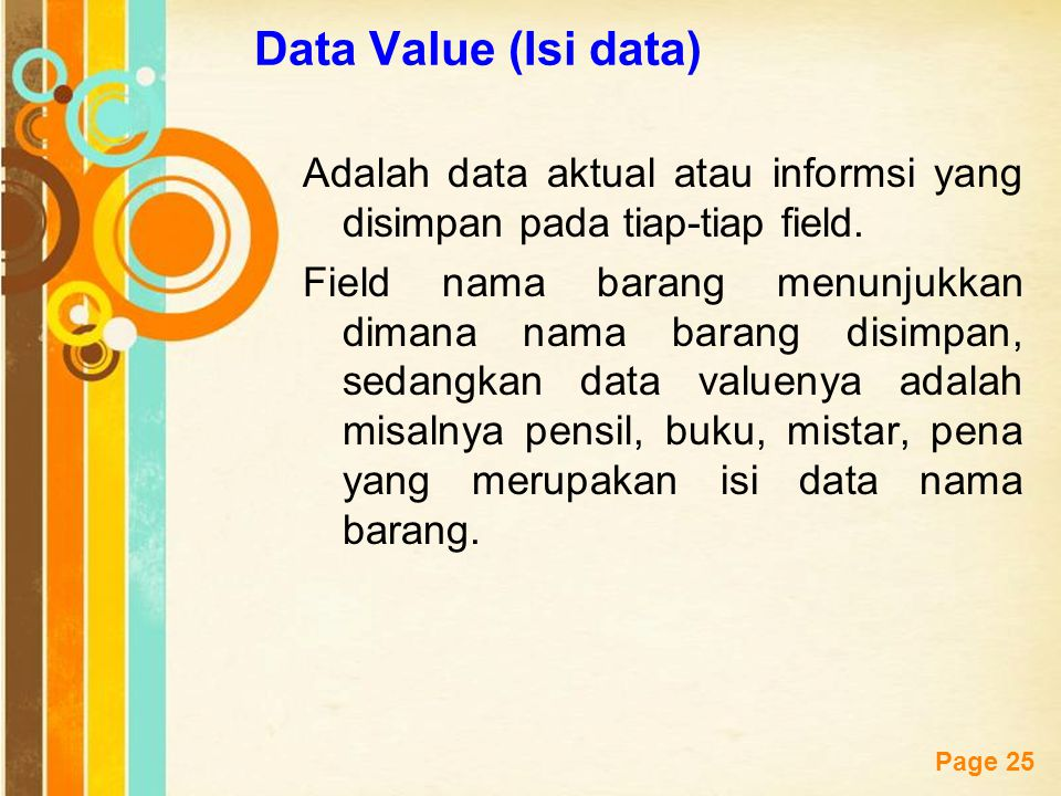 Data Value (Isi data)