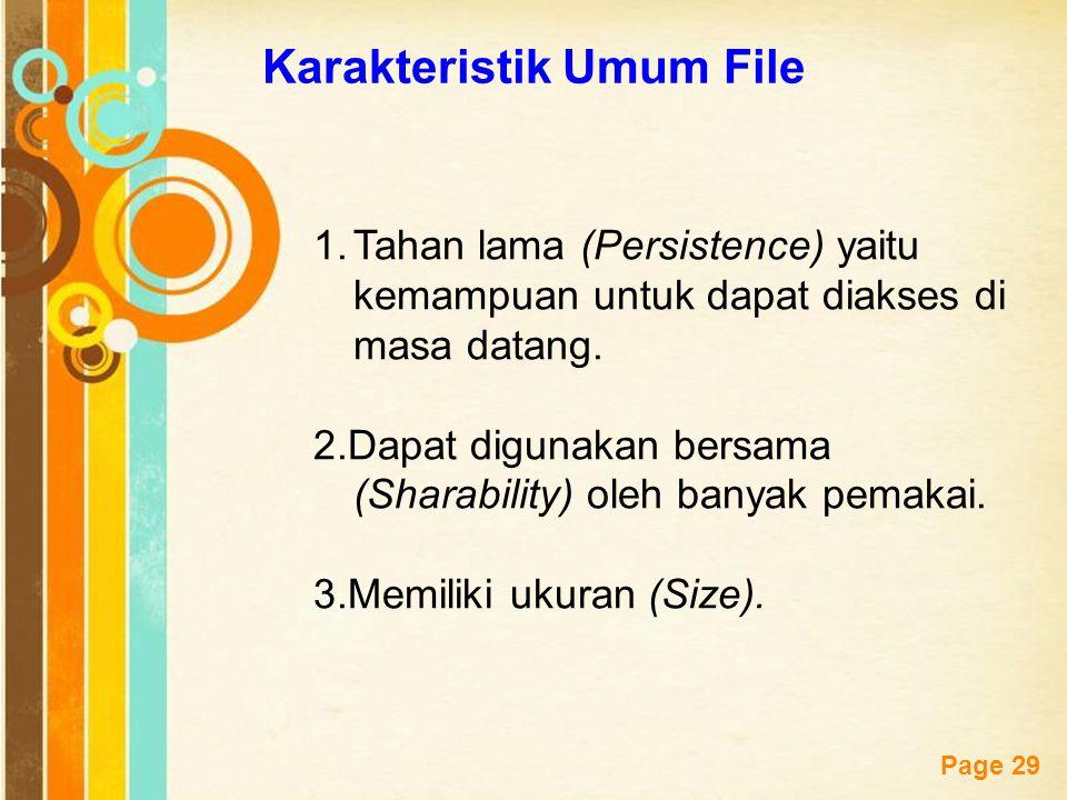 Karakteristik Umum File