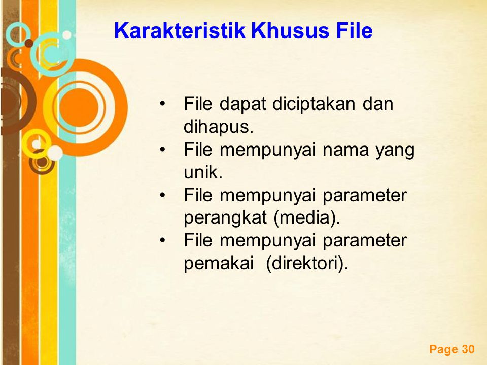 Karakteristik Khusus File