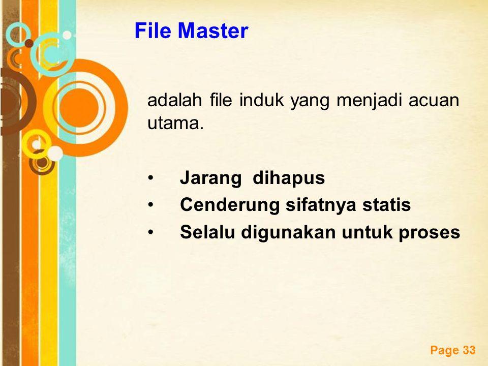 File Master adalah file induk yang menjadi acuan utama. Jarang dihapus