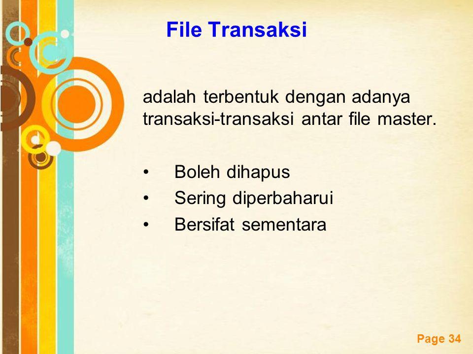 File Transaksi adalah terbentuk dengan adanya transaksi-transaksi antar file master. Boleh dihapus.