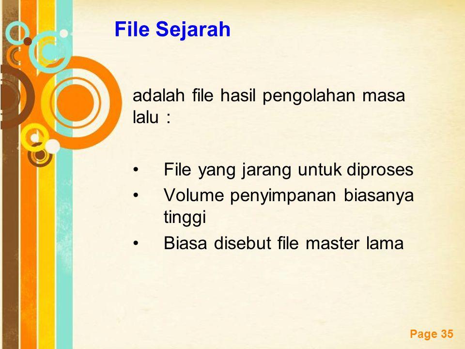 File Sejarah adalah file hasil pengolahan masa lalu :