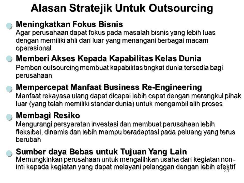 Alasan Stratejik Untuk Outsourcing